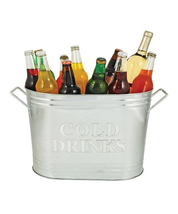 'Cold Drinks' Galvanized Ice Bucket