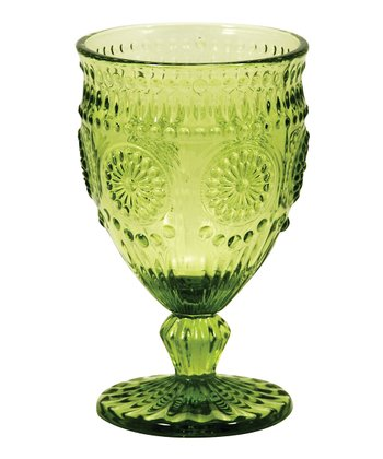 Sweet Pea Embossed Goblet - Set of Four