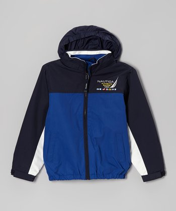 Dark Blue Hooded Jacket - Boys