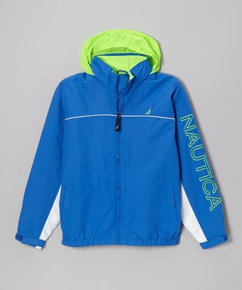 Fiji Blue Hooded Jacket - Toddler & Boys