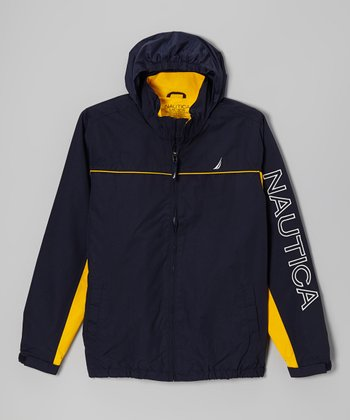 Sport Navy Hooded Jacket - Toddler & Boys