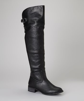 Black Olympia Over-the-Knee Boot