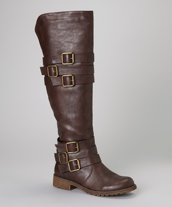 Brown Buckle Vivienne Boot