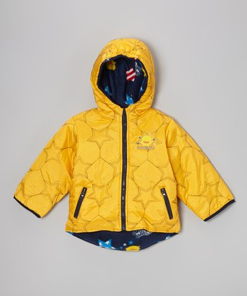 Yellow Star Reversible Coat - Toddler