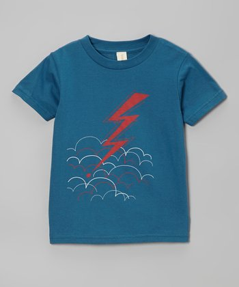 Galaxy Blue Lightning Organic Tee - Toddler & Kids