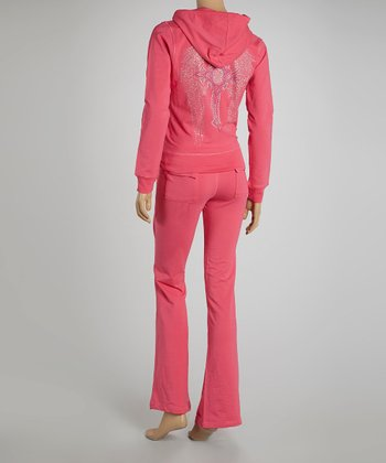 Pink Wing Cross Hoodie & Lounge Pants