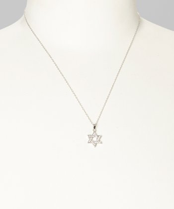 Sterling Silver Twinkle Star of David Pendant Necklace