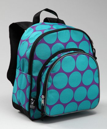 Aqua Big Dot Pack 'N' Snack Backpack