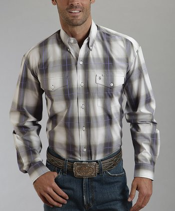 Teak Ombré Plaid Button-Up - Men