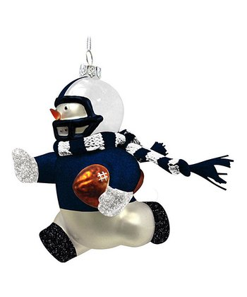 Penn State Blown Glass Snowman Ornament