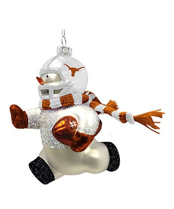 Texas Blown Glass Snowman Ornament