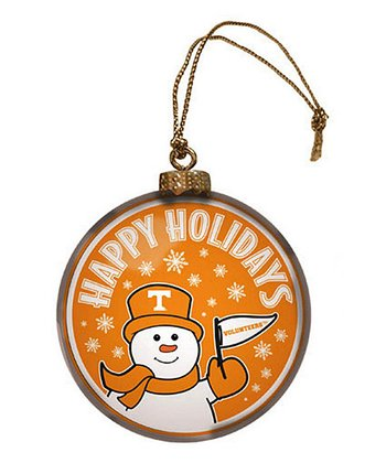 Tennessee Snowman Disc Ornament