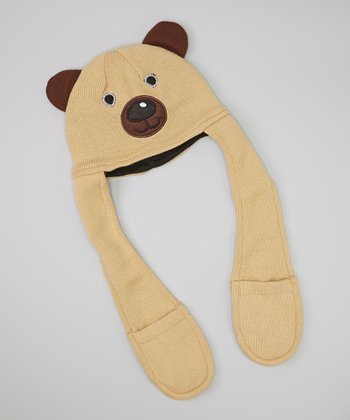 Brown Bear Hooded Scarf