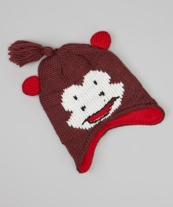 Brown Monkey Beanie
