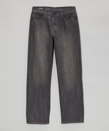 Digital Gray Rebel Slim Straight-Leg Jeans - Boys