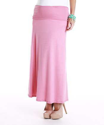 PinkBlush Pink Maternity Maxi Skirt - Women