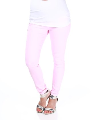 Pink Blush Light Pink Maternity Skinny Pants
