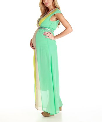 Mint Green Maternity Maxi Dress - Women