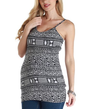 Black & White Tribal Maternity Tank