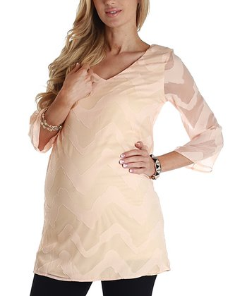Peach Wave Maternity Tunic - Women