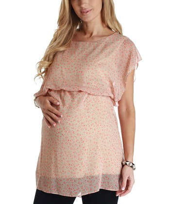 Orange Jungle Chiffon Maternity Tunic