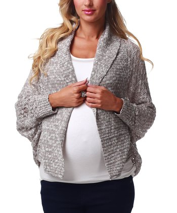 Mocha Knit Maternity Cardigan