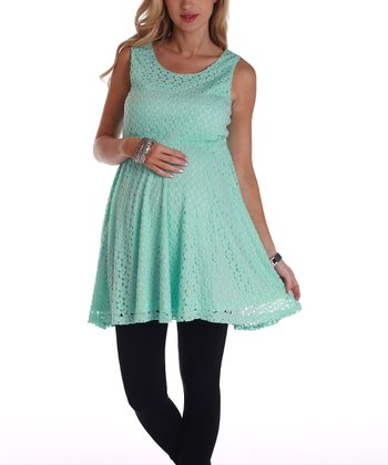 Mint Green Lace Maternity Tunic - Women