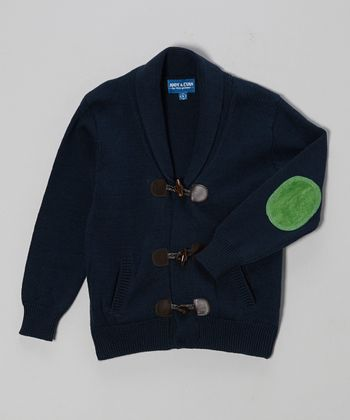 Navy Toggle Cardigan - Infant, Toddler & Boys