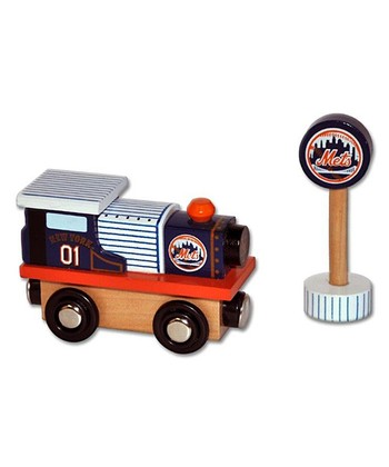 New York Mets Wooden Train Engine