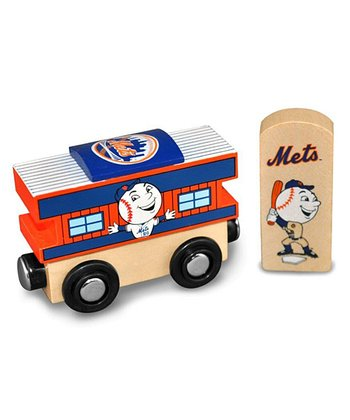 New York Mets Wooden Train Caboose