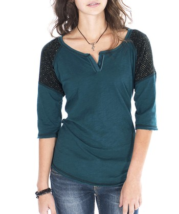 Blue Spruce Amelia Color Block Henley