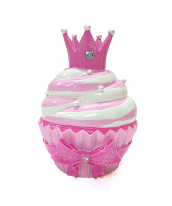 Pink Princess Cupcake Bank