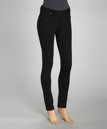 Black Diamond Jacquard Ponte Jeggings