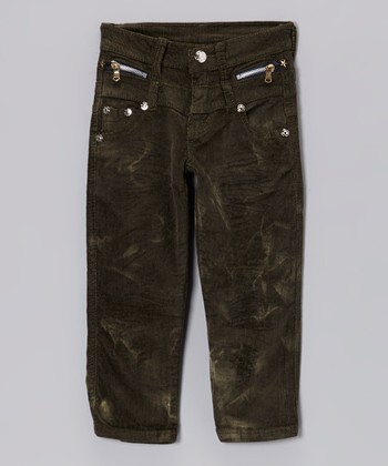 Black Corduroy Pants - Toddler & Boys