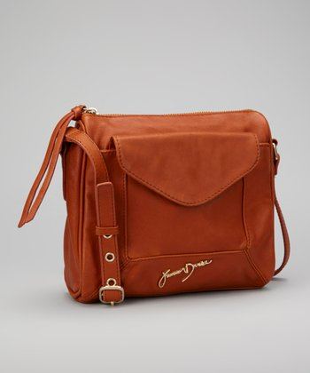 Rust Leather Tasha Crossbody Bag
