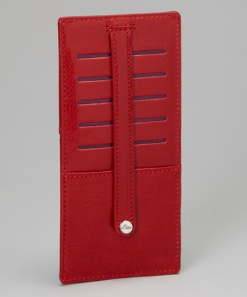 Red Leather Credit Card File
