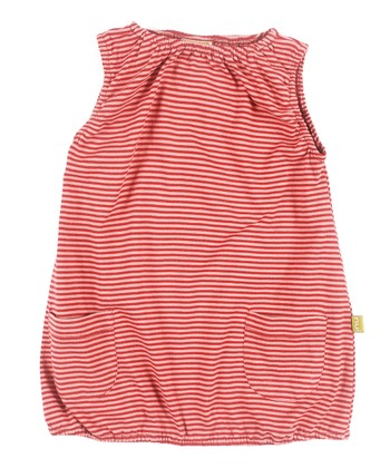 Rose Stripe Noemi Organic Bubble Dress - Toddler & Girls