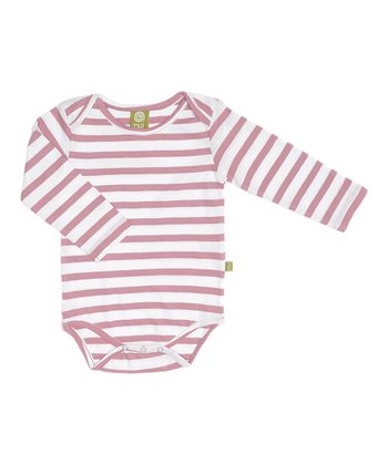 Rose Stripe Organic Wool Bodysuit - Infant