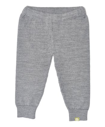 Charcoal Organic Wool-Silk Blend Leggings - Infant