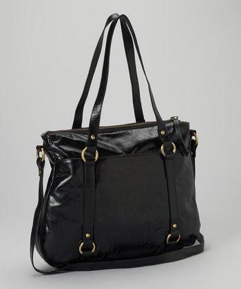Latico Leather Black Buffy Tote