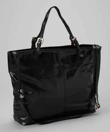 Latico Leather Black Janice Tote