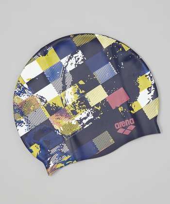 Blue & Yellow Poolish Swim Cap - Adult