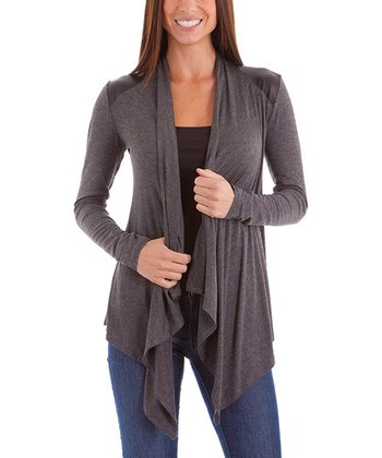 Dark Gray Open Cardigan