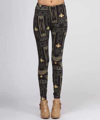 Black & Yellow Gatsby Leggings
