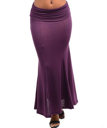 Purple Fishtail Skirt