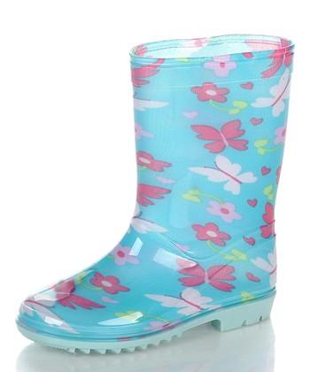 Blue & White Aquasion Rain Boot