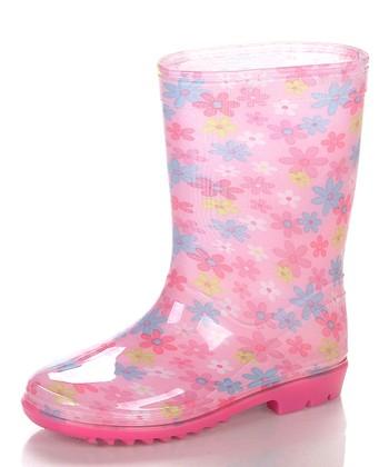 Pink & White Aquasion Rain Boot