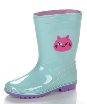 Sea Green & Pink Kit Rain Boot