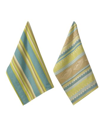 Stillwater Jacquard Stripe Dish Towel - Set of Two