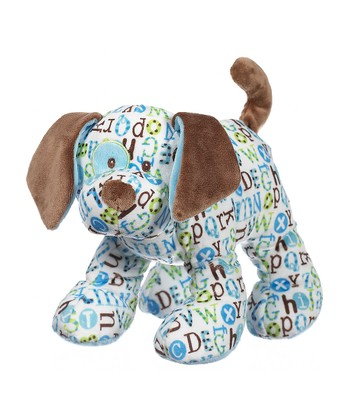 GANZ Blue & Brown Pitter Pattern Puppy Plush Toy
